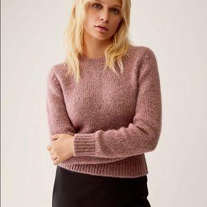 aritzia talula rose pink alpaca sweater size M